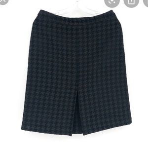 Brooks Brothers Houndstooth Skirt Black on Black